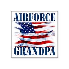 "Airforce Grandpa Square Sticker 3"" x 3"""