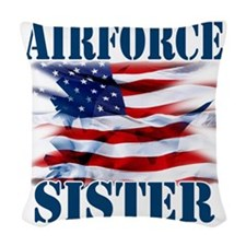 Airforce Sister Woven Throw Pillow
