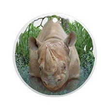 round rhino front/back Round Ornament