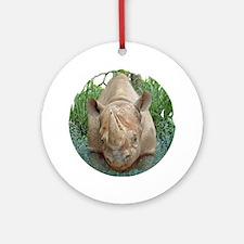 round rhino front/back Round Ornament