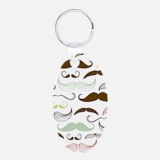 Mustache Pattern Keychains