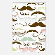 Mustache Pattern Postcards (Package of 8)