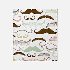 Mustache Pattern Throw Blanket