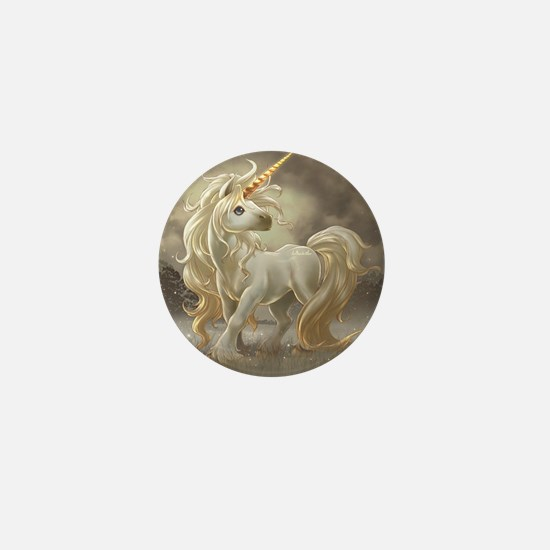 Golden unicorn Mini Button
