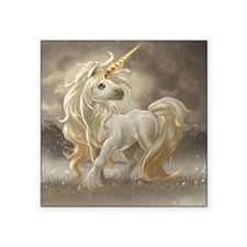 "Golden unicorn Square Sticker 3"" x 3"""
