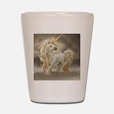 Golden unicorn Shot Glass