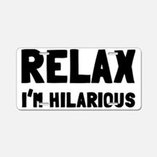 relax Aluminum License Plate