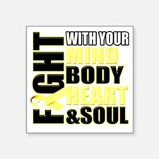"""Fight Against Cancer Square Sticker 3"""" x 3"""""""