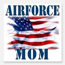 "Airforce Mom Square Car Magnet 3"" x 3"""