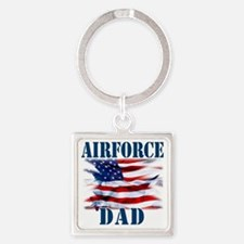Airforce Dad Square Keychain