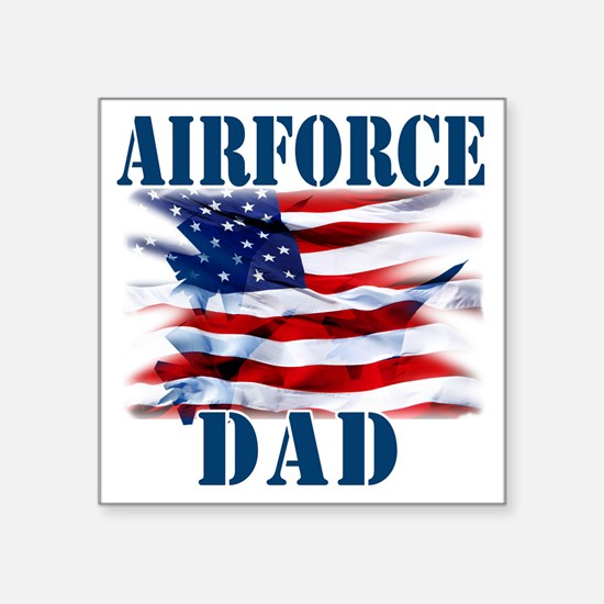 "Airforce Dad Square Sticker 3"" x 3"""