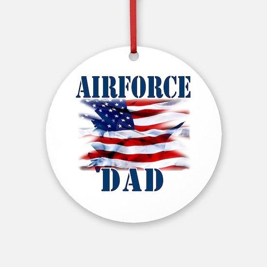 Airforce Dad Round Ornament