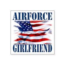 """Airforce Girlfriend Square Sticker 3"""" x 3"""""""