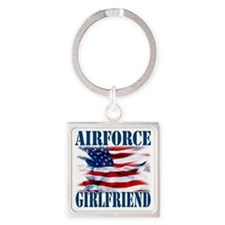 Airforce Girlfriend Square Keychain