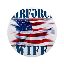 Airforce Wife Round Ornament