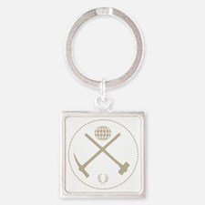 GeoClub tools logo over dark Square Keychain
