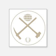 "GeoClub tools logo over dar Square Sticker 3"" x 3"""