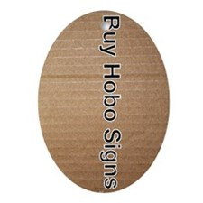 Buy Hobo Signs Oval Ornament