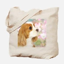 Spring Dogwood Cavalier King Charles Span Tote Bag