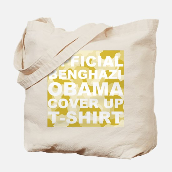 obama benghazi cover up camo l Tote Bag