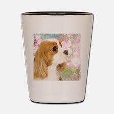 Spring Dogwood Cavalier King Charles Sp Shot Glass