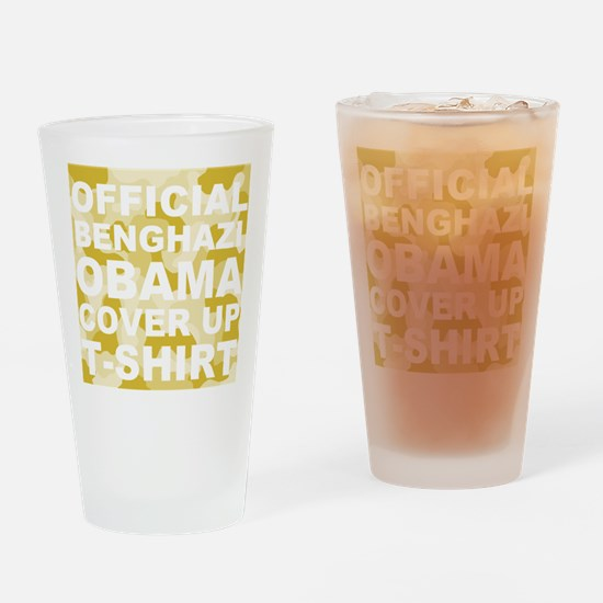 obama benghazi cover up camo l Drinking Glass