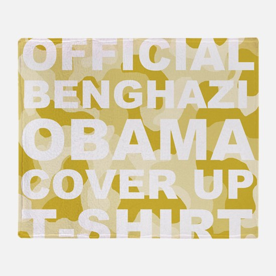obama benghazi cover up camo l Throw Blanket