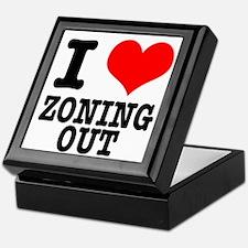 I Heart (Love) Zoning Out Keepsake Box