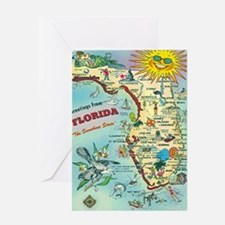 Vintage Greetings from Florida Greeting Card