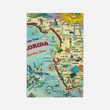 Vintage Greetings from Florida Rectangle Magnet