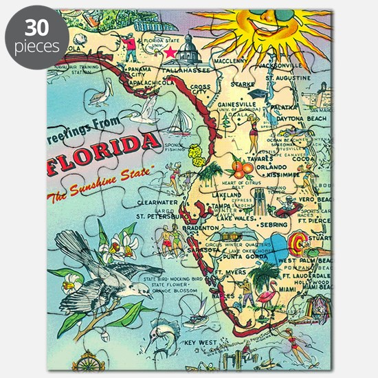 Vintage Greetings from Florida Puzzle