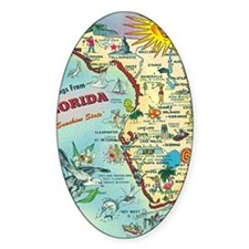 Vintage Greetings from Florida Decal