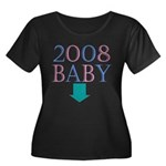 Baby 2008 Women's Plus Size Scoop Neck Dark T-Shir