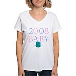 Baby 2008 Women's V-Neck T-Shirt