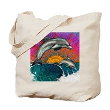 Dolphin Ocean Wave Tote Bag