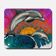 Dolphin Ocean Wave Mousepad