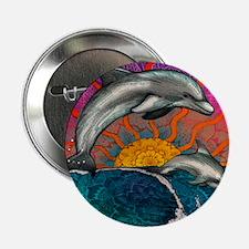 """Dolphin Ocean Wave 2.25"""" Button"""