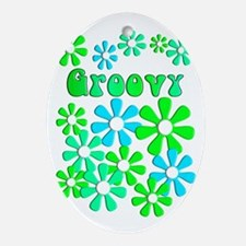 groovy D Oval Ornament