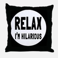 relaxbutton Throw Pillow