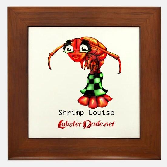 Shrimp Louise Framed Tile