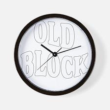old block (see chip) Wall Clock