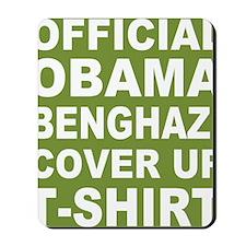 Obama benghazi cover up g Mousepad