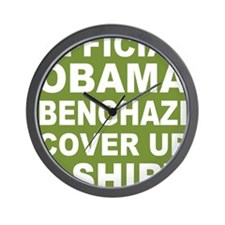 Obama benghazi cover up g Wall Clock