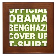 Obama benghazi cover up g Framed Tile
