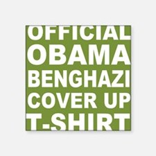 "Obama benghazi cover up g Square Sticker 3"" x 3"""