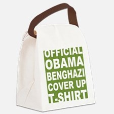 Obama benghazi cover up g Canvas Lunch Bag