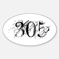 305 Chic Decay Style Oval Decal