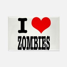 I Heart (Love) Zombies Rectangle Magnet