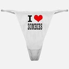 I Heart (Love) Zombies Classic Thong