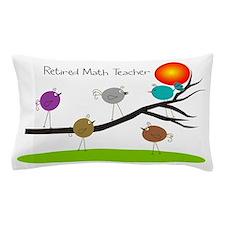 retired Math teacher retro birds Pillow Case